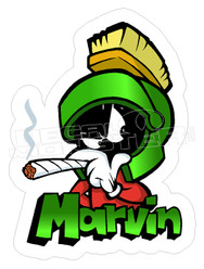 Marvin the Martian Smoking Decal Sticker