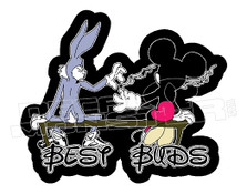 Weed Buggs Bunny and Mickey Mouse Best Buds Decal Sticker