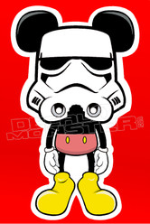 Mickey Mouse Storm Trooper Decal Sticker