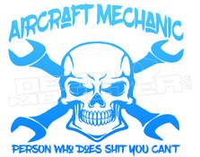 Aircraft Mechanic Skull Wrench Crossbones 1 Decal Sticker DM