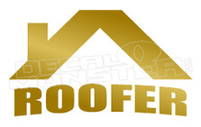 Certified Roofer Decal Sticker DM