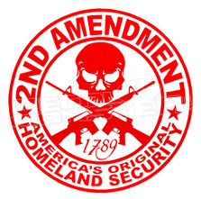2nd Amendment 5 Decal Sticker DM