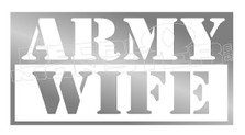 Badass Army Wife Decal Sticker DM