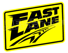 Fast Lane Driving Decal Sticker DM