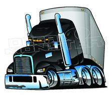 Semi Truck Driver 1 Decal Sticker DM