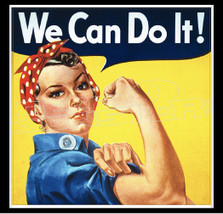 WW2 Female Empowerment We Can Do It Decal Sticker DM