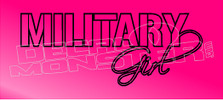 Military Girl Decal Sticker DM