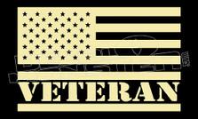 USA Veteran 1 Decal Sticker DM