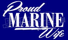 Proud Marine Wife 1 Decal Sticker DM