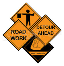 Constuction Road Workers Sign Decal Sticker DM