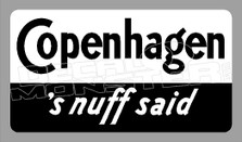 Copenhagen Snuff 3 Decal Sticker DM