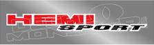 Hemi Sport Graphic Decal Sticker DM