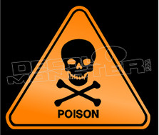 Warning Poison Decal Sticker DM