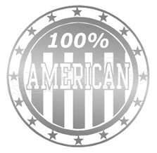 Certified 100% American Decal Sticker DM