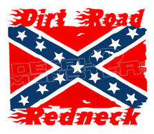 Confederate Dirt Road Redneck Decal Sticker DM