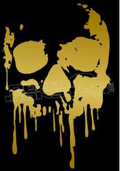 Blood Dripping No Fear Skull Decal Sticker DM