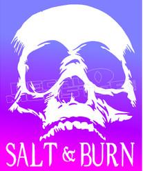 Skull Salt and Burn Decal Sticker DM