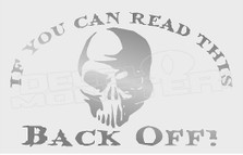 Back Off Driving Skull Decal Sticker DM