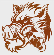 War Hogs Cigar Decal Sticker DM
