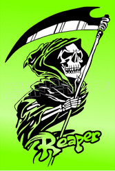 Grim Reaper Silhouette 2 Decal Sticker DM