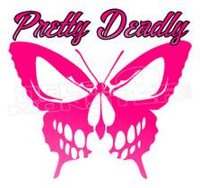 Pretty Deadly Butterfly Skull Decal Sticker DM