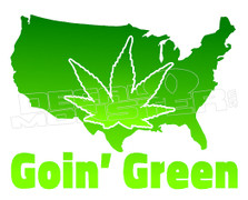 America Goin' Green Weed Decal Sticker DM
