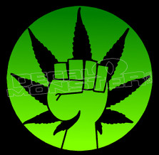 Weed Support Decal Sticker DM