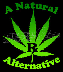 All Natural Rx Alternative Weed Decal Sticker DM