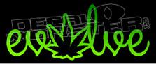 Weed Evolve Decal Sticker DM