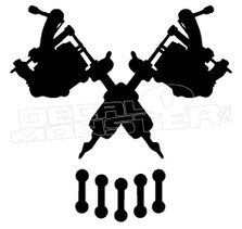 Tattoo Skull Decal Sticker DM