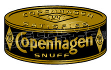 Copenhagen Snuff Tin 1 Decal Sticker DM