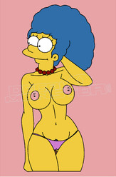 TV Show Simpsons Hot Nude Marge Decal Sticker DM