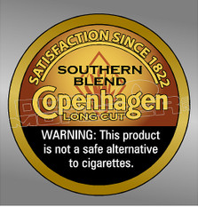 Copenhagen Snuff Tin 42 Decal Sticker DM