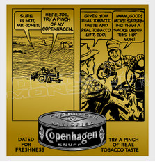 Copenhagen Snuff Tin 6 Decal Sticker DM