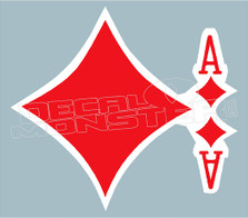 Ace of Diamonds Decal Sticker DM