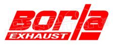 Borla Exhaust Logo Automotive Decal Sticker DM