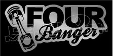 Four Banger JDM Decal Sticker DM