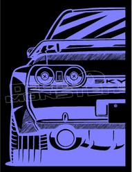 Skyline Silhouette JDM Decal Sticker DM