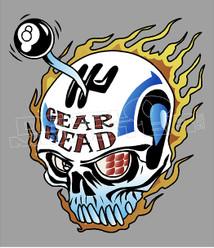 Gear Head Shifter Skull Decal Sticker DM