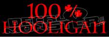 100% Hooligan Decal Sticker DM