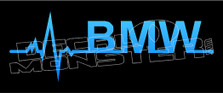 Heart Beats BMW Decal Sticker DM