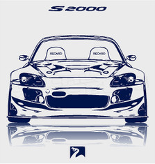 S2000 Silhouette Decal Sticker DM