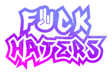 Shocker Fuck Haters JDM Decal Sticker DM