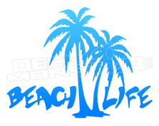 Beach Life Silhouette 2 Decal Sticker DM