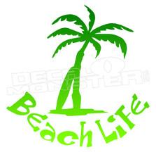 Beach Life Silhouette 4 Decal Sticker DM