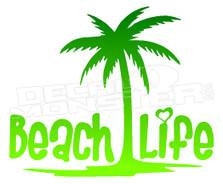 Beach Life Silhouette 5 Decal Sticker DM