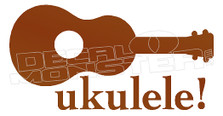 Ukelele Silhouette Decal Sticker DM