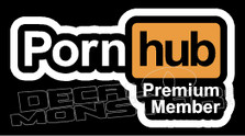 Pornhub Premium Member Decal Sticker DM