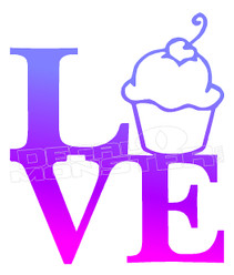 Love Cupcakes Decal Sticker DM