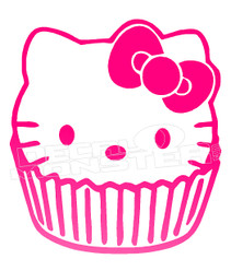 My Lil Kitty Cupcake Decal Sticker DM